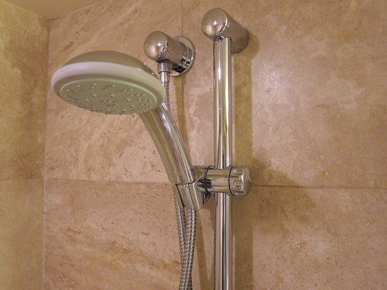 Hotel Adjustable Shower Head at Wedgewood Hotel in Vancouver