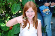 Heidi at the Butterfly Garden, Tennessee Aquarium, Chattanooga, TN, April, 2008
