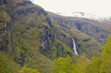 Waterfall seen from the Flåmsbana train