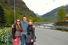 Lon, Haley, and Heidi in Flåm