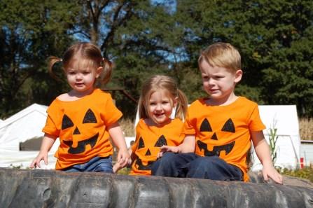 Our Three L'il Pumpkins