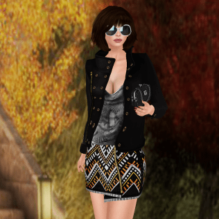 Glamour Girl outfit, tameless Ria hair