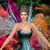 Here is the Miss TWA Silainium set in cools with the matching wings