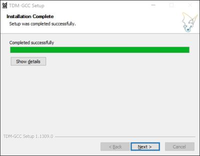 tdm-gcc-installation-completed