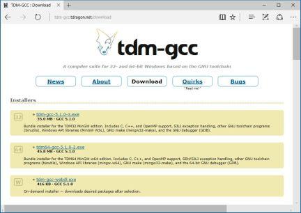 tdm-gcc-tdragon-net-download-page