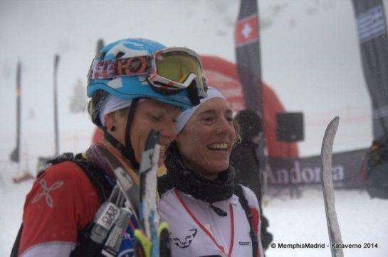 Laetitia y Maude en la individual Race de los Europeos de Font Blanca
