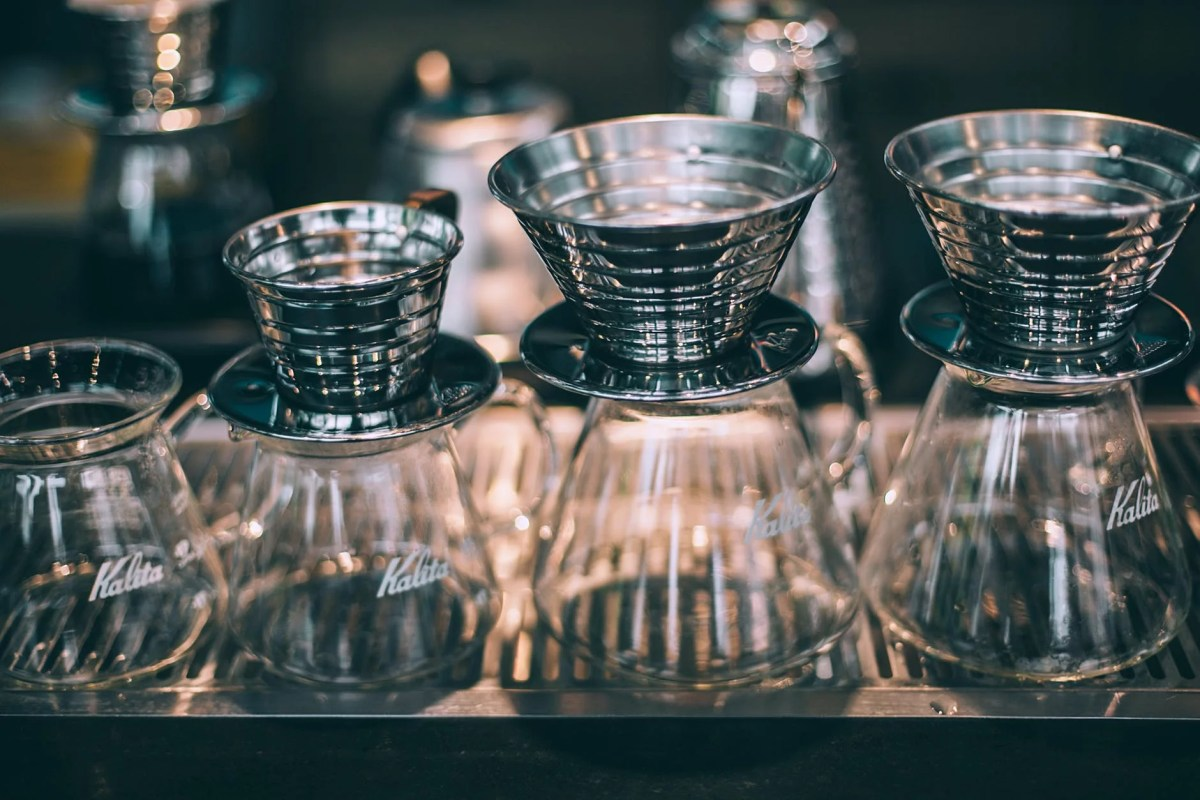 set of glass coffee pots for pour over