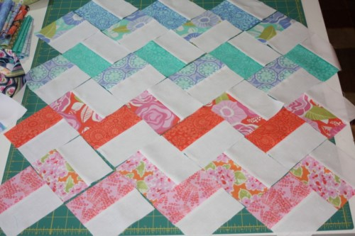 Avery Lane Blog Sewing tutorial zigzag doll quilt