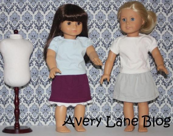 Repurpose : pants to doll skirt : sewing tutorial : Avery Lane Sewing Blog