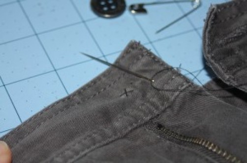 Avery Lane Blog tutorial: how to sew on a button correctly