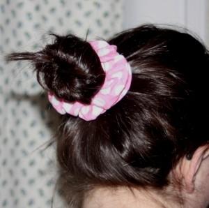 fabric covered ponytail holders tutorial on Avery Lane Blog