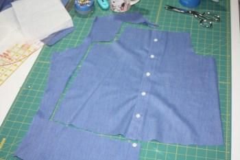 Avery Lane Blog upcycle tutorial mens dress shirt into girl's  tunic21