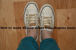 Sewing Tutorial for making skinny jeans from reular jeans properly