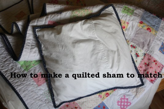 how to make a quilted sham to match the quilt you've made back view