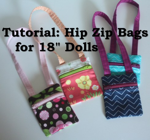 Hip Zip Bag for 18 inch Dolls Sewing Tutorial b