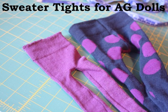 Sweater tights tutorial for AG Dolls Avery Lane Sewing Blog