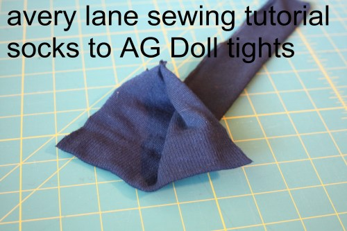 avery lane sewing tutorial socks to AG Doll tights2