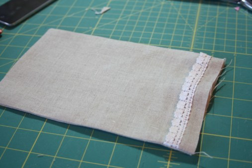 Sewing tutorial for making phone charging station 3