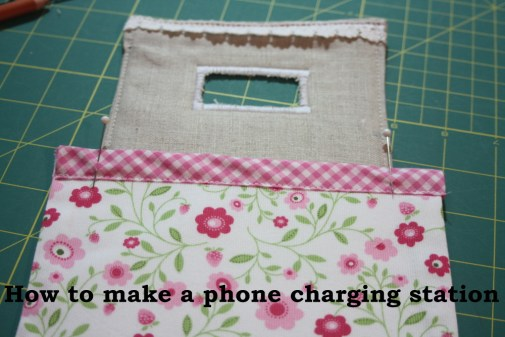 Sewing tutorial for making phone charging station VERYlANEsEWING