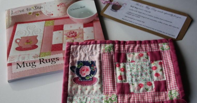 Handmade Holidays and  Mug Rug Book review