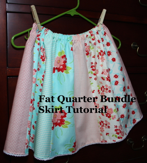 Fat Quarter Bundle Skirt Country Skirt Sewing  Tutorial on AveryLaneSewing.com