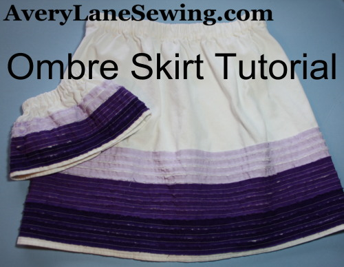 Ombre Skirt Tutorial for Girls and dolls  AveryLaneSewing.com a1