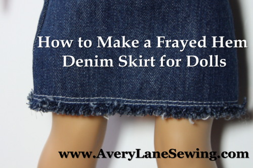 Frayed Hem Tutorial