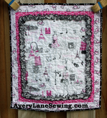 Timeless Treasures Bonjour Doll Quilt Sewing Tutorial 3a