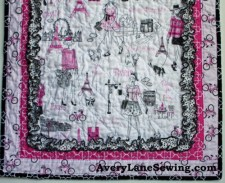 Timeless Treasures Bonjour Doll Quilt Sewing Tutorial 7a