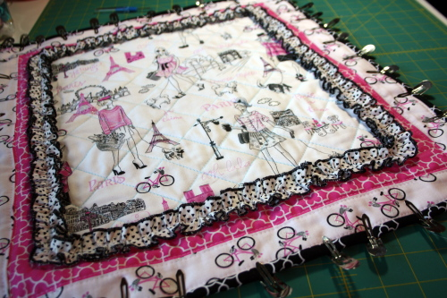 doll quilt tutorial Bonjour Fabric by Timeless Treasures 1