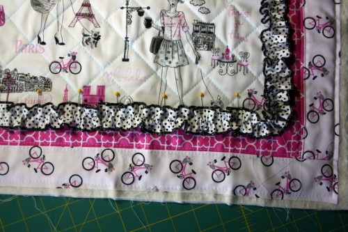 doll quilt tutorial Bonjour Fabric by Timeless Treasures 7