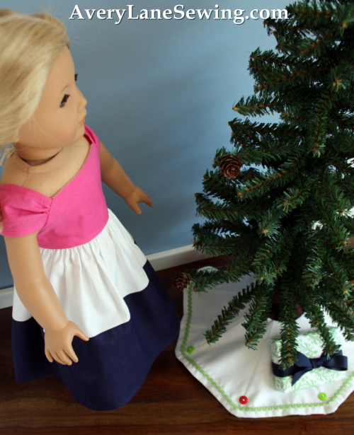 Too Cute Doll Designs Newsletter a doll sewing magazineMagazine mini tree skirt tutorial blog sew along 3