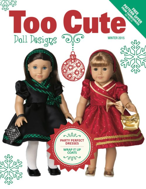 Too Cute 18 inch Doll Design Publication and patterns magazine cover
