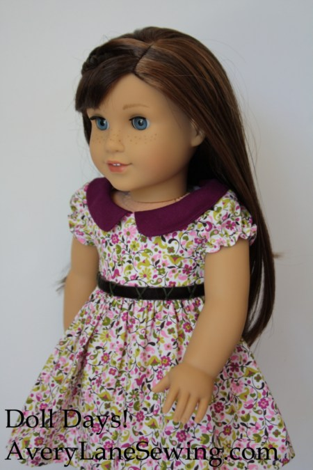 Sneak peek at Doll Days! sewing pattern book for American Girl Dolls 1