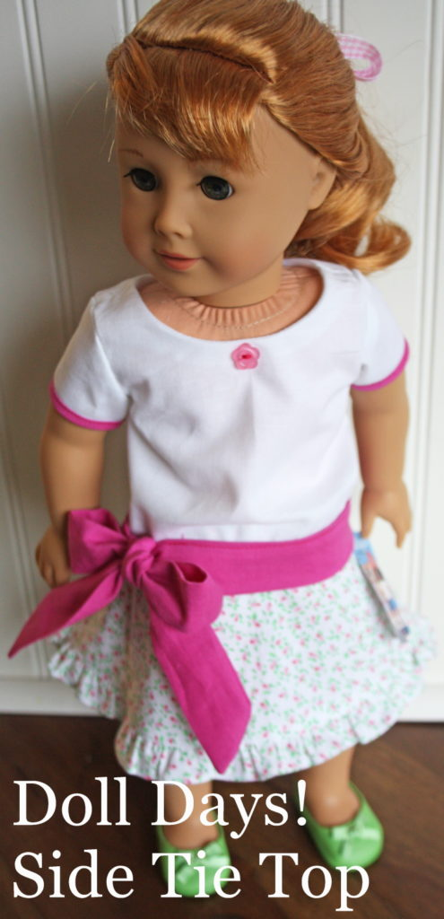 Side Tie Top Doll Days bonus free pattern by Avery Lane Patterns for 18 inch dolls