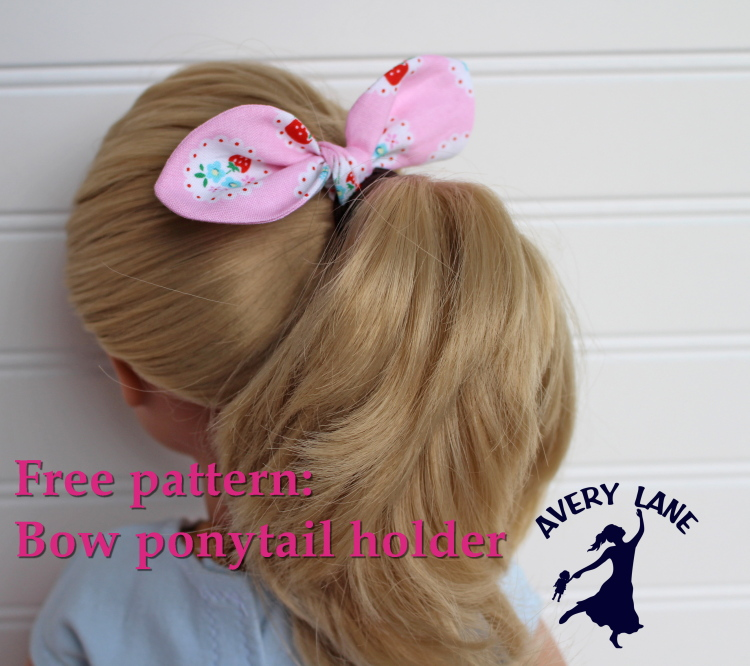 Easy Knot-bow Ponytail Holder Tutorial - Avery Lane Sewing 6d0dc87a7e1