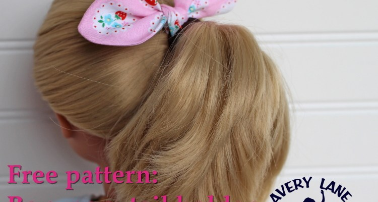 Easy Knot-bow Ponytail Holder Tutorial