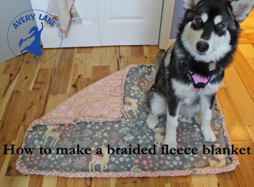 How to Make a No-sew Braided Fleece Blanket
