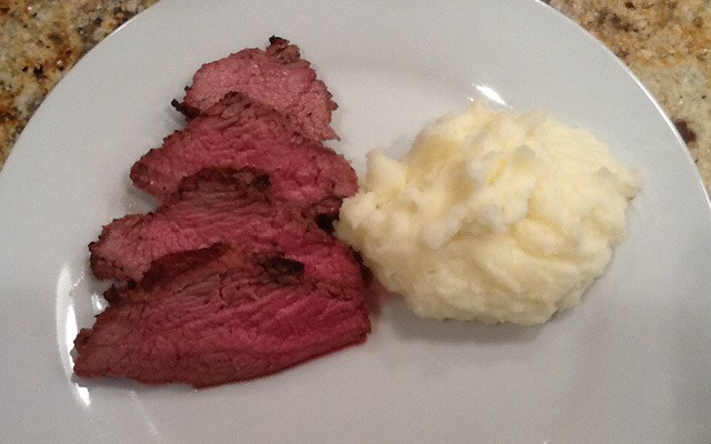 What's for dinner? Tri-tip roast on the grill and mashed potatoes
