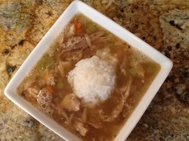 Turkey Soup aka What to do with Roast Turkey Leftovers