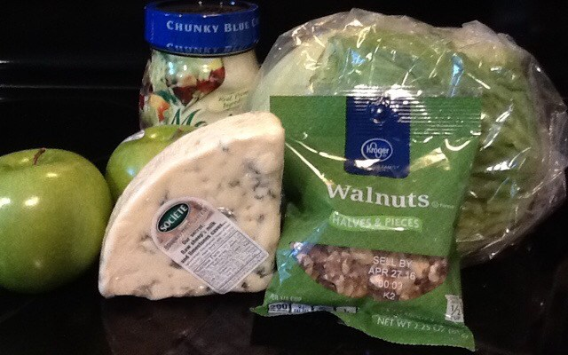 Granny Smiths and Roquefort – almost go together better than peanutbutter and chocolate