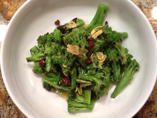 Ottolenghi's Charred Broccoli with Chilis and Garlic