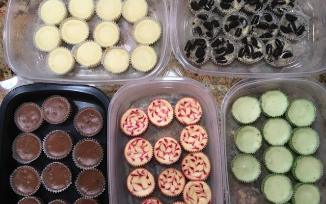 A Variety of Mini-Cheesecakes
