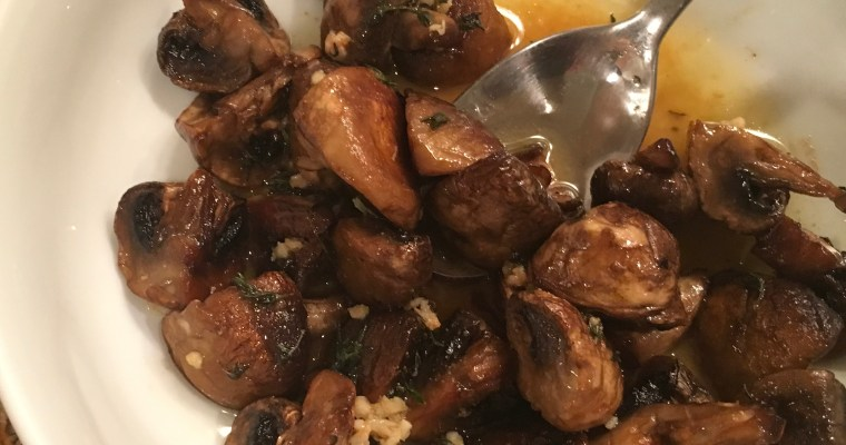Roasted Mushrooms in a Garlic, Thyme, Brown Butter Sauce