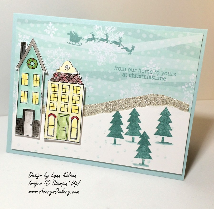 Stampin Up Holiday Home Homemade Holiday framelits Watercolor