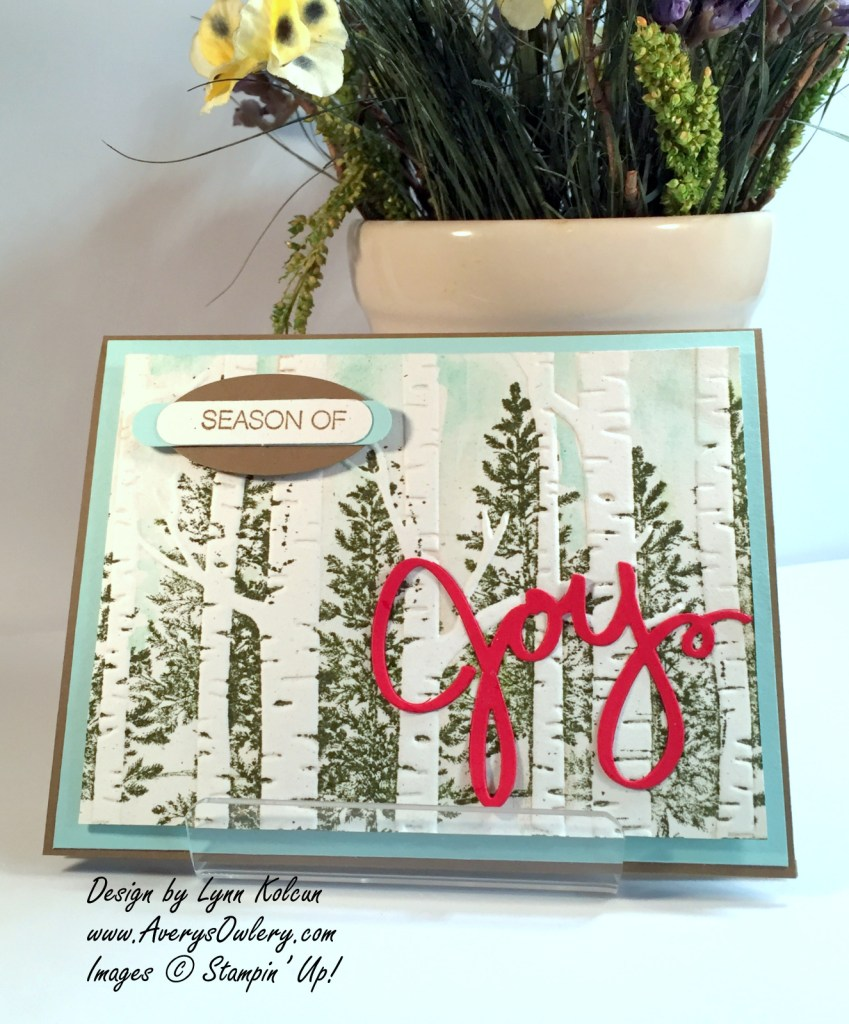 Stampin Up Woodland TIEF Lovely as a Tree AverysOwlery.com