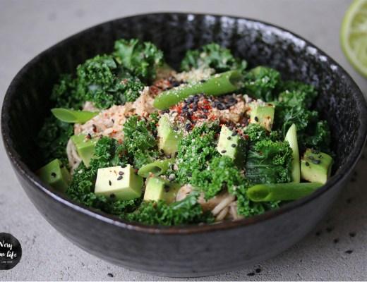Hauptgericht mit Grünkohl