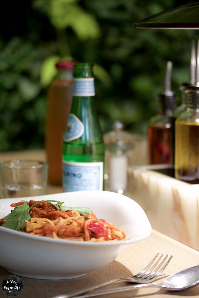 vegane Spagetti Bolognese bei Vapiano