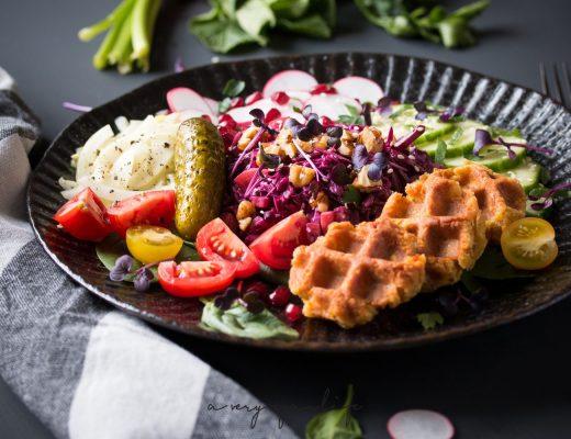 Rezept für Falafel Waffles-Bowl