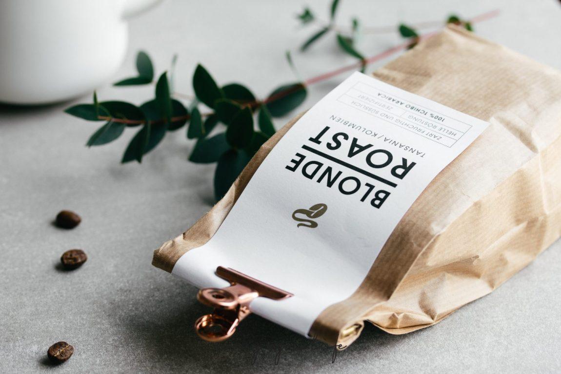 Helle Kaffeebohnen (Third Wave Coffee), der Filterkaffee